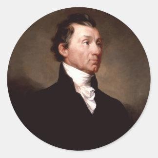 Retrato de James Monroe de Samuel Morse Pegatina Redonda