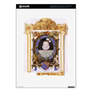Retrato de James VI de Escocia (1566-1625) más ade iPad 3 Pegatina Skin