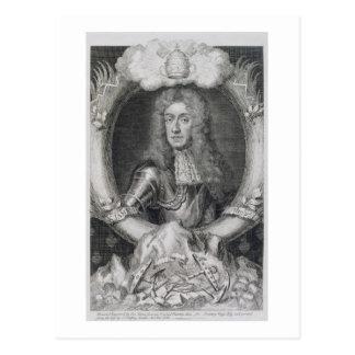 Retrato de James VII de Escocia, II de Inglaterra Postal