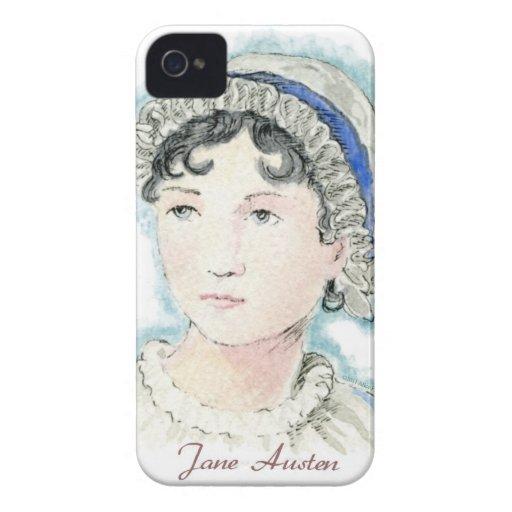 Retrato de Jane Austen de Alicia Flynn iPhone 4 Case-Mate Carcasa