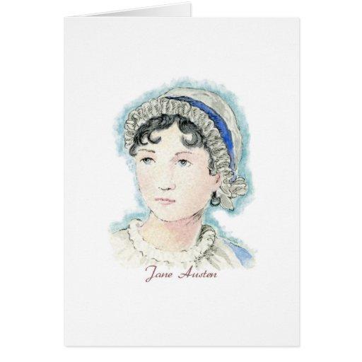 Retrato de Jane Austen de Alicia Flynn Tarjeta