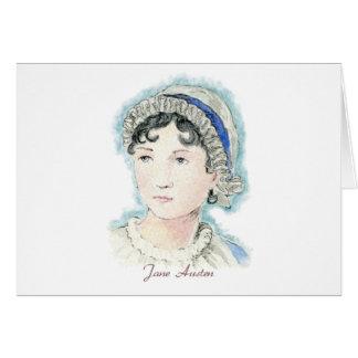 Retrato de Jane Austen de Alicia Flynn Tarjeta De Felicitación