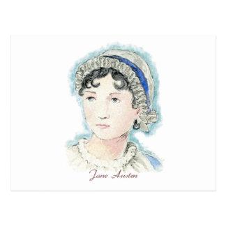 Retrato de Jane Austen de Alicia Flynn Tarjeta Postal