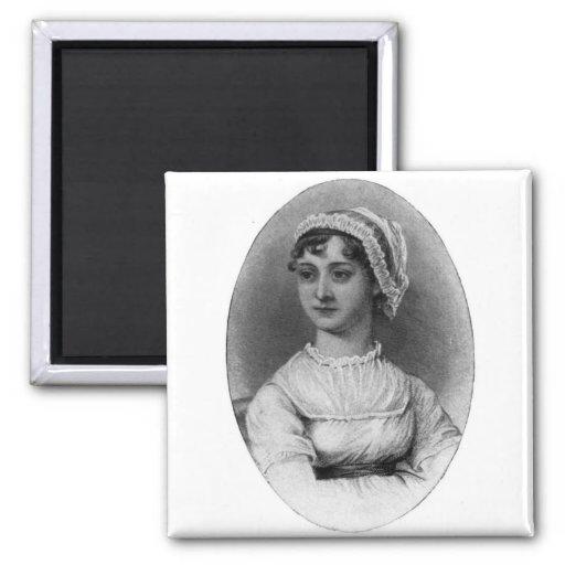 Retrato de Jane Austen Imán Cuadrado