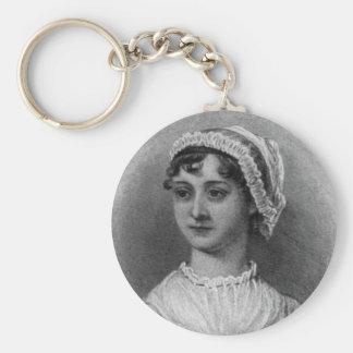 Retrato de Jane Austen Llavero Redondo Tipo Pin