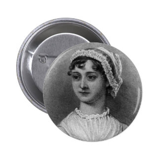 Retrato de Jane Austen Pin Redondo De 2 Pulgadas