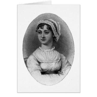 Retrato de Jane Austen Tarjeta De Felicitación