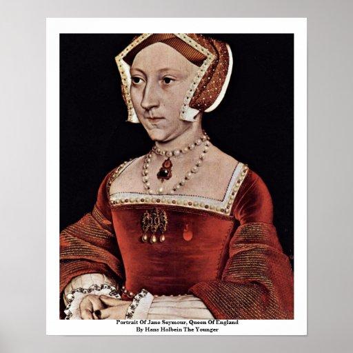 Retrato de Jane Seymour, reina de Inglaterra Póster