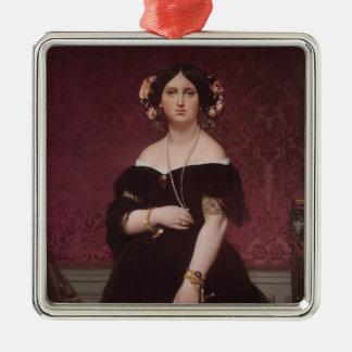 Retrato de Jean Auguste Ingres- de señora Adorno Cuadrado Plateado