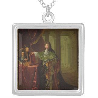 Retrato de Jean-Baptiste Colbert Colgante Cuadrado