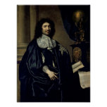 Retrato de Jean-Baptiste Colbert de Torcy 1666 Posters
