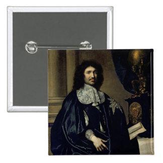 Retrato de Jean-Baptiste Colbert de Torcy 1666 Pin Cuadrado