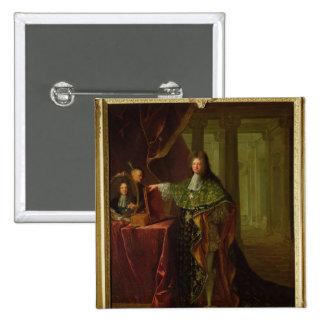 Retrato de Jean-Baptiste Colbert Pin Cuadrado