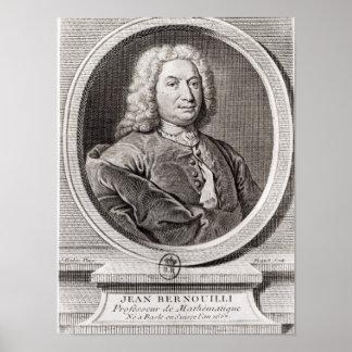 Retrato de Jean Bernoulli grabado cerca Posters