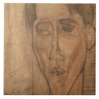Retrato de Jean Cocteau (1889-1963) 1917 (lápiz Azulejo Cuadrado Grande