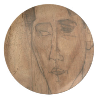 Retrato de Jean Cocteau (1889-1963) 1917 (lápiz Plato De Comida