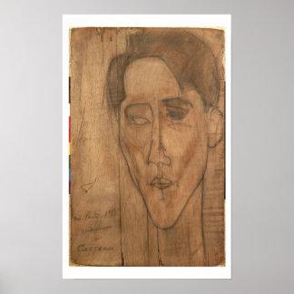Retrato de Jean Cocteau (1889-1963) 1917 (lápiz Póster