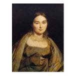 Retrato de Jean Dominique Ingres- de señora Ingres Postal