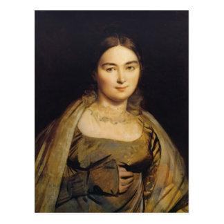 Retrato de Jean Dominique Ingres- de señora Ingres Tarjeta Postal