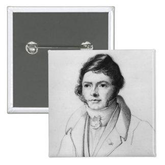 Retrato de Jean-Francois Champollion, 1830 Pin Cuadrada 5 Cm