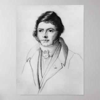 Retrato de Jean-Francois Champollion, 1830 Póster