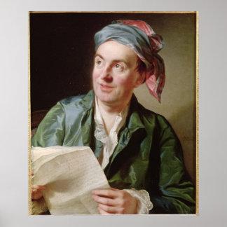 Retrato de Jean-Francois Marmontel 1767 Póster