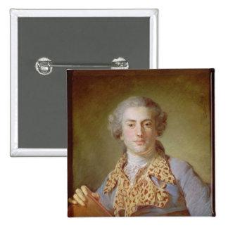 Retrato de Jean-Georges Noverre, 1764 Pin Cuadrada 5 Cm