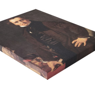 Retrato de Jean Ingres- del escultor Lorenzo Impresión En Lienzo Estirada