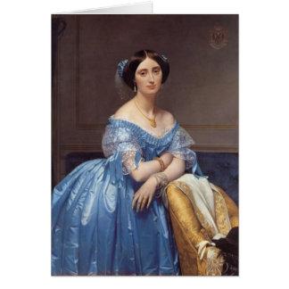 Retrato de Jean Ingres- del Princesse de Broglie Felicitacion