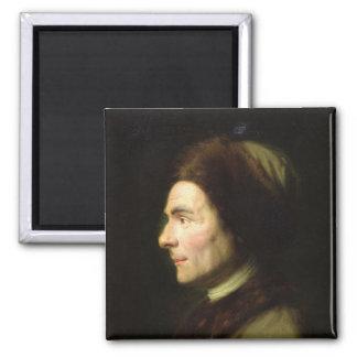 Retrato de Jean-Jacques Rousseau Imán Cuadrado