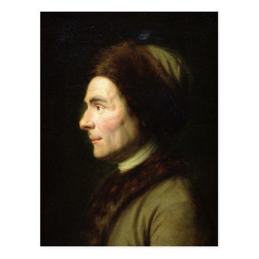 Retrato de Jean-Jacques Rousseau Postales