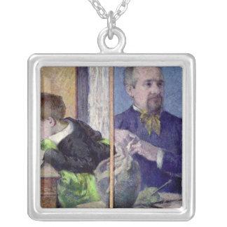 Retrato de Jean Paul Aube y su hijo Colgante Cuadrado