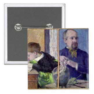 Retrato de Jean Paul Aube y su hijo Pin Cuadrado