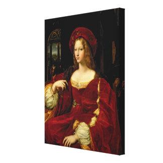Retrato de Jeanne de la esposa de Aragón (c.1500-7 Impresiones De Lienzo