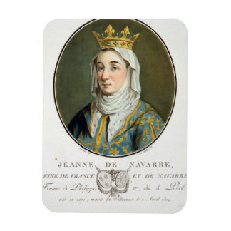 Retrato de Jeanne de Navarra (1271-1304), 1788 (c Imanes Flexibles
