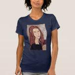 Retrato de Jeanne Hébuterne [cabeza en perfil]. , Camiseta