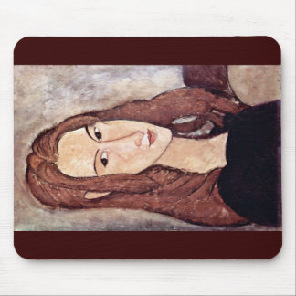 Retrato de Jeanne Hébuterne cabeza en perfil Tapete De Ratón