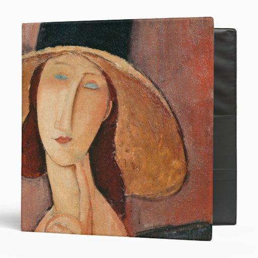 Retrato de Jeanne Hebuterne en un gorra grande
