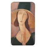 Retrato de Jeanne Hebuterne en un gorra grande Funda Acolchada Para Móvil