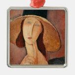 Retrato de Jeanne Hebuterne en un gorra grande Adorno De Reyes
