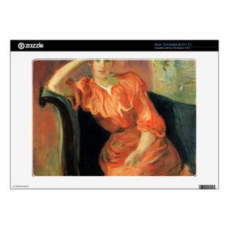 Retrato de Jeanne Pontillon de Berthe Morisot Acer Chromebook Calcomanías