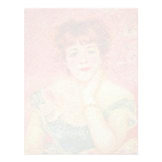 Retrato de Jeanne Samary de Pierre-Auguste Renoir Membrete A Diseño