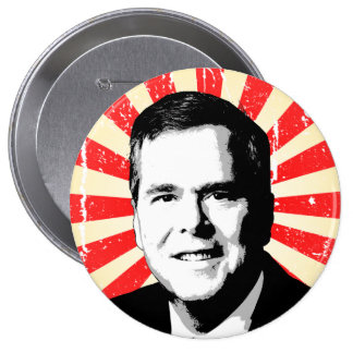 Retrato de Jeb Bush Pin Redondo 10 Cm
