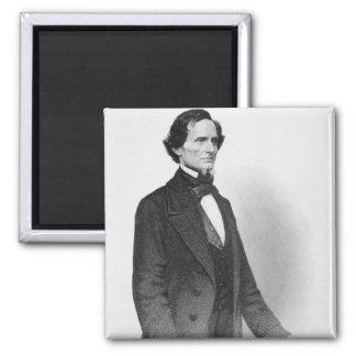 Retrato de Jefferson Davis Imán Cuadrado