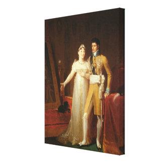 Retrato de Jerome Bonaparte y su esposa Lona Envuelta Para Galerias