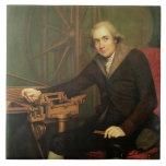 Retrato de Jesse Ramsden (1735-1800) (aceite en ca Azulejo Cuadrado Grande