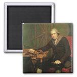Retrato de Jesse Ramsden (1735-1800) (aceite en ca Imán Cuadrado