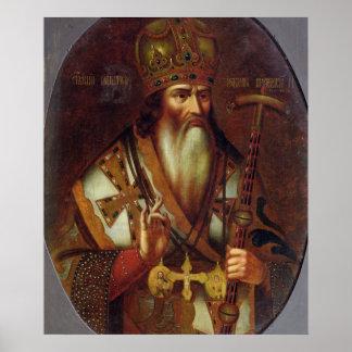 Retrato de Joaquín, patriarca de Moscú Póster
