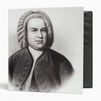 """Retrato de Johann Sebastian Bach Carpeta 1 1/2"""""""