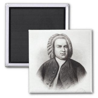Retrato de Johann Sebastian Bach Imán Cuadrado